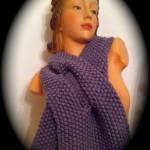 photo tricot modèle tricoter point de riz une écharpe 10