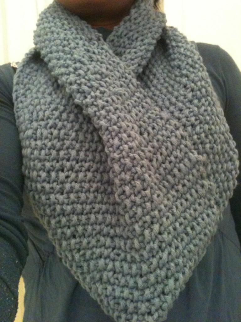 photo tricot modèle tricoter point de riz une écharpe 11