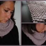 photo tricot modèle tricoter point de riz une écharpe 12