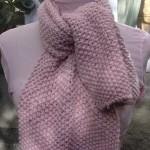 photo tricot modèle tricoter point de riz une écharpe 14