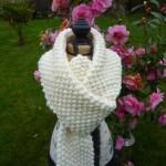photo tricot modèle tricoter point de riz une écharpe 15