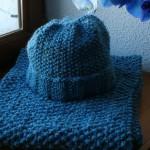 photo tricot modèle tricoter point de riz une écharpe