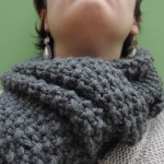 photo tricot modèle tricoter point de riz une écharpe 16