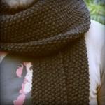 photo tricot modèle tricoter point de riz une écharpe 17