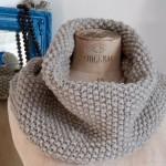 photo tricot modèle tricoter point de riz une écharpe 4