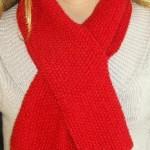 photo tricot modèle tricoter point de riz une écharpe 5