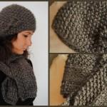 photo tricot modèle tricoter point de riz une écharpe 7