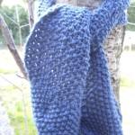 photo tricot modèle tricoter point de riz une écharpe 8