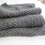 photo tricot modèle tricoter point de riz une écharpe 9