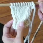photo tricot modèle tricoter torsade un