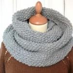 photo tricot modèle tricoter tour de cou circulaires 10