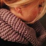 photo tricot modèle tricoter tour de cou circulaires 15