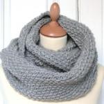 photo tricot modèle tricoter tour de cou circulaires 17