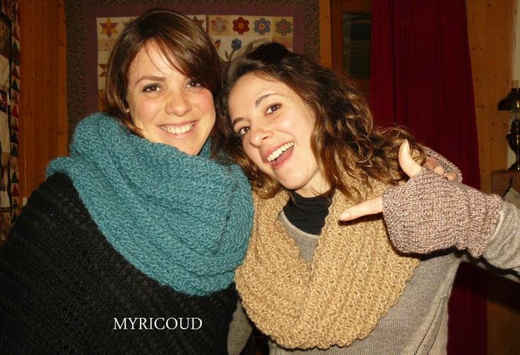 photo tricot modèle tricoter tour de cou circulaires 2