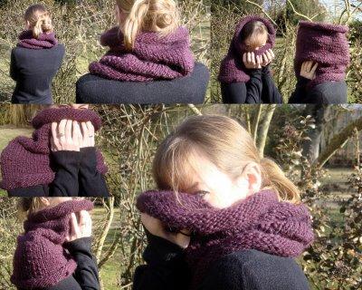 photo tricot modèle tricoter tour de cou circulaires 3