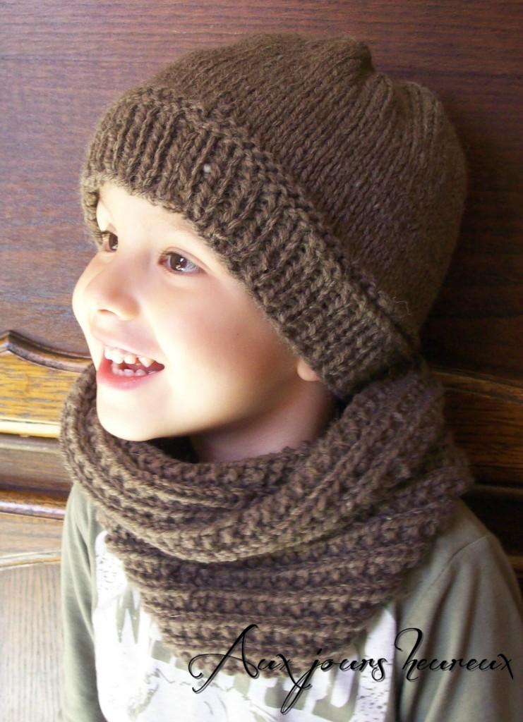 photo tricot modèle tricoter tour de cou circulaires 4