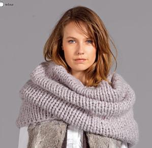 photo tricot modèle tricoter tour de cou circulaires 5