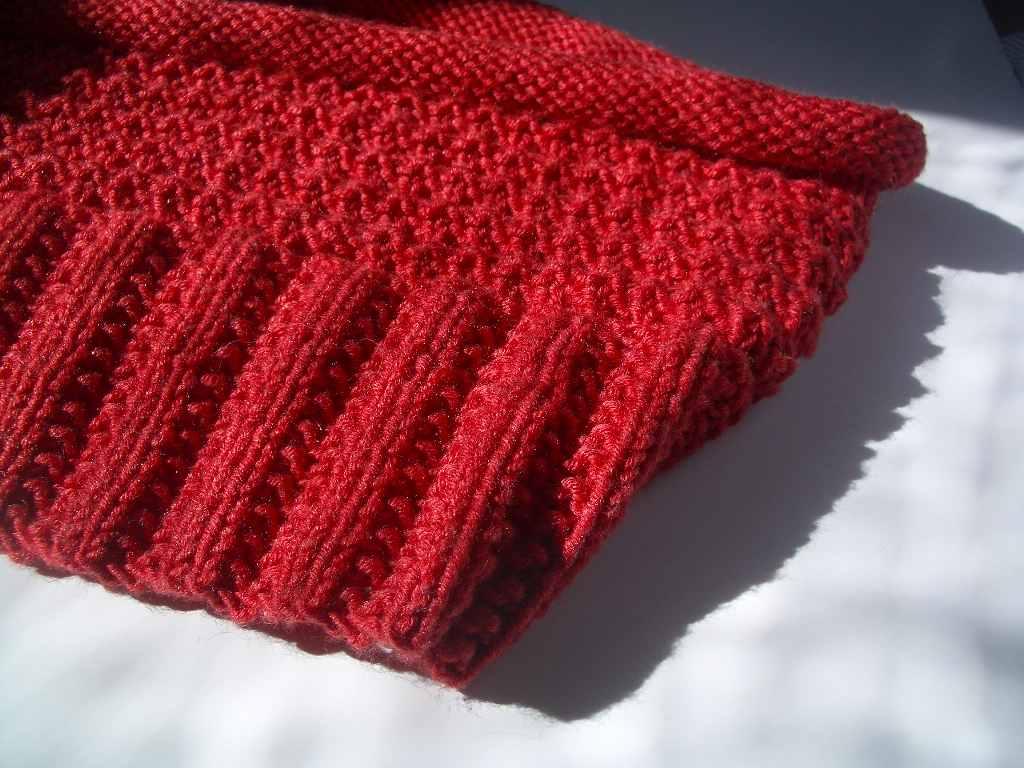 photo tricot modèle tricoter tour de cou circulaires 6