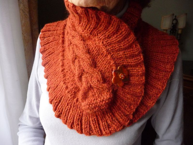 photo tricot modèle tricoter tour de cou circulaires 8