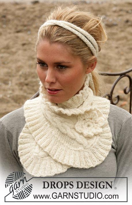 photo tricot modèle tricoter tour de cou circulaires