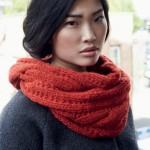photo tricot modele de snood au tricot