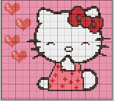 photo tricot modele de tricot hello kitty 14