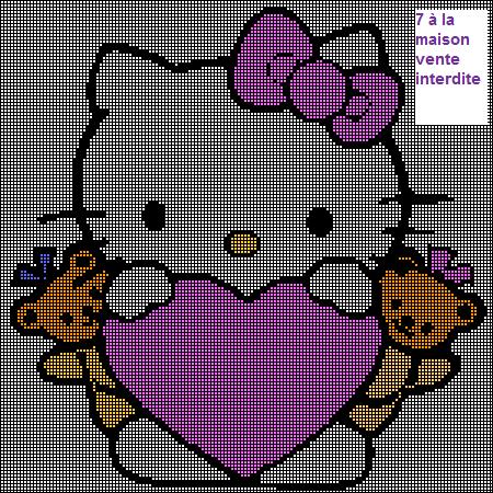 photo tricot modele de tricot hello kitty 3
