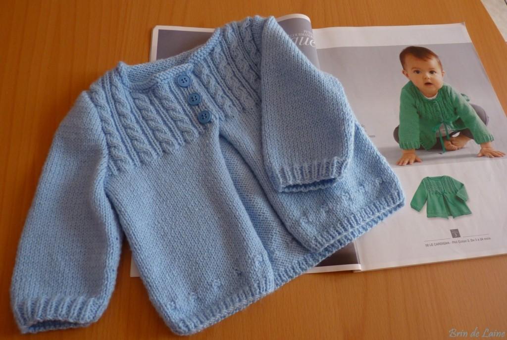 photo tricot modele gratuit tricot layette gilet 11