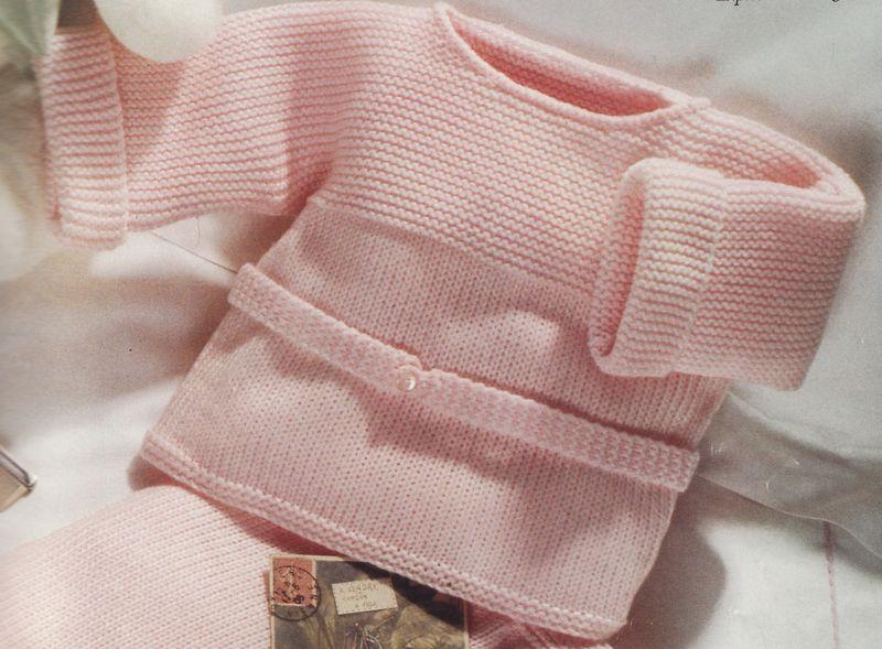 photo tricot modele gratuit tricot layette gilet 15