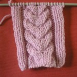 photo tricot modele point tricot torsade 14