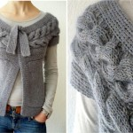 photo tricot modele point tricot torsade 4