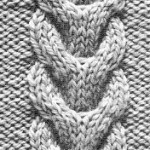 photo tricot modele point tricot torsade 7