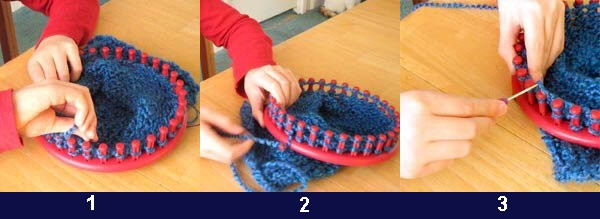 Photo tricot modele pour tricotin circulaire 3 - Comment terminer un tricotin ...
