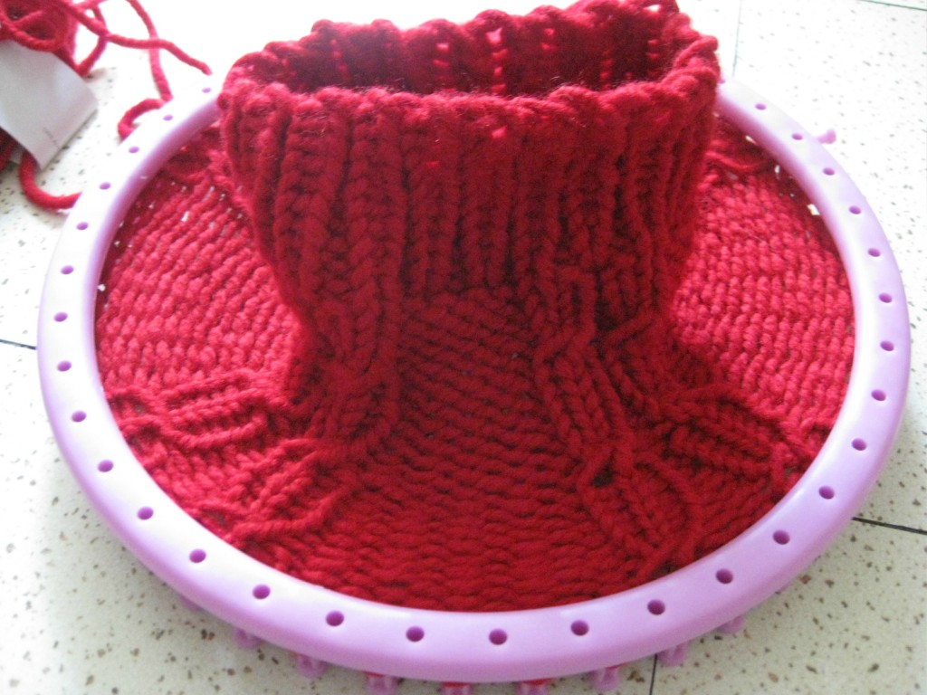 modèle tricot echarpe circulaire