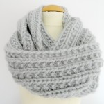 photo tricot modele snood en tricot 3