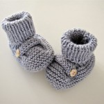 photo tricot modele tricot bebe chaussons