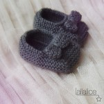 photo tricot modele tricot bebe chaussons 5