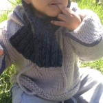 photo tricot modele tricot bebe echarpe 13