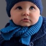 photo tricot modele tricot bebe echarpe