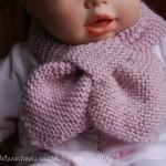 photo tricot modele tricot bebe echarpe 5
