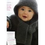 photo tricot modele tricot bebe echarpe 6