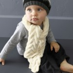 photo tricot modele tricot bebe echarpe 9