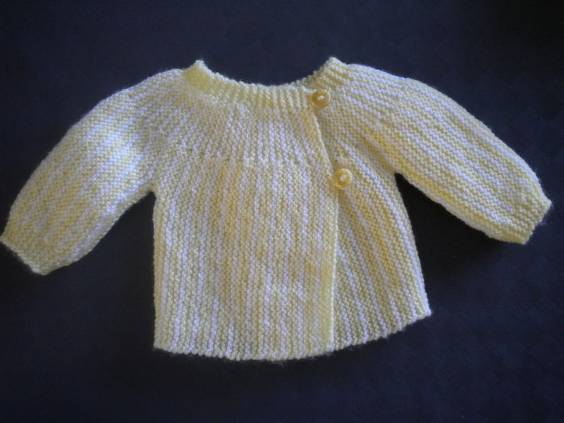 photo tricot modele tricot bebe simple 10