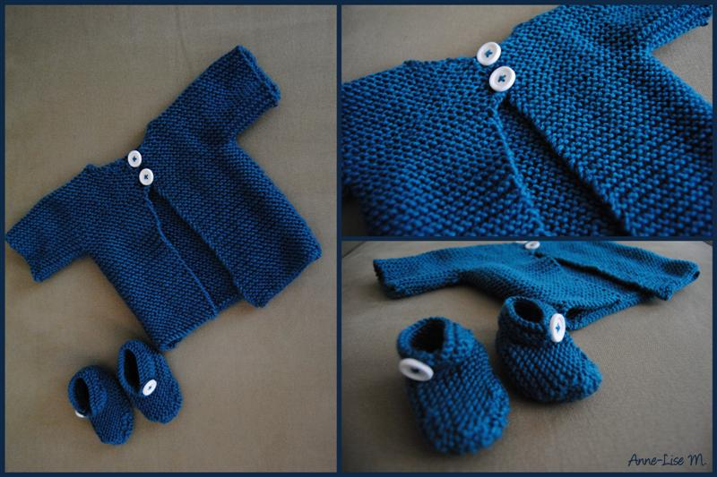 photo tricot modele tricot bebe simple 3