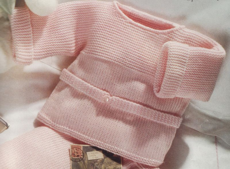 photo tricot modele tricot bebe simple 8