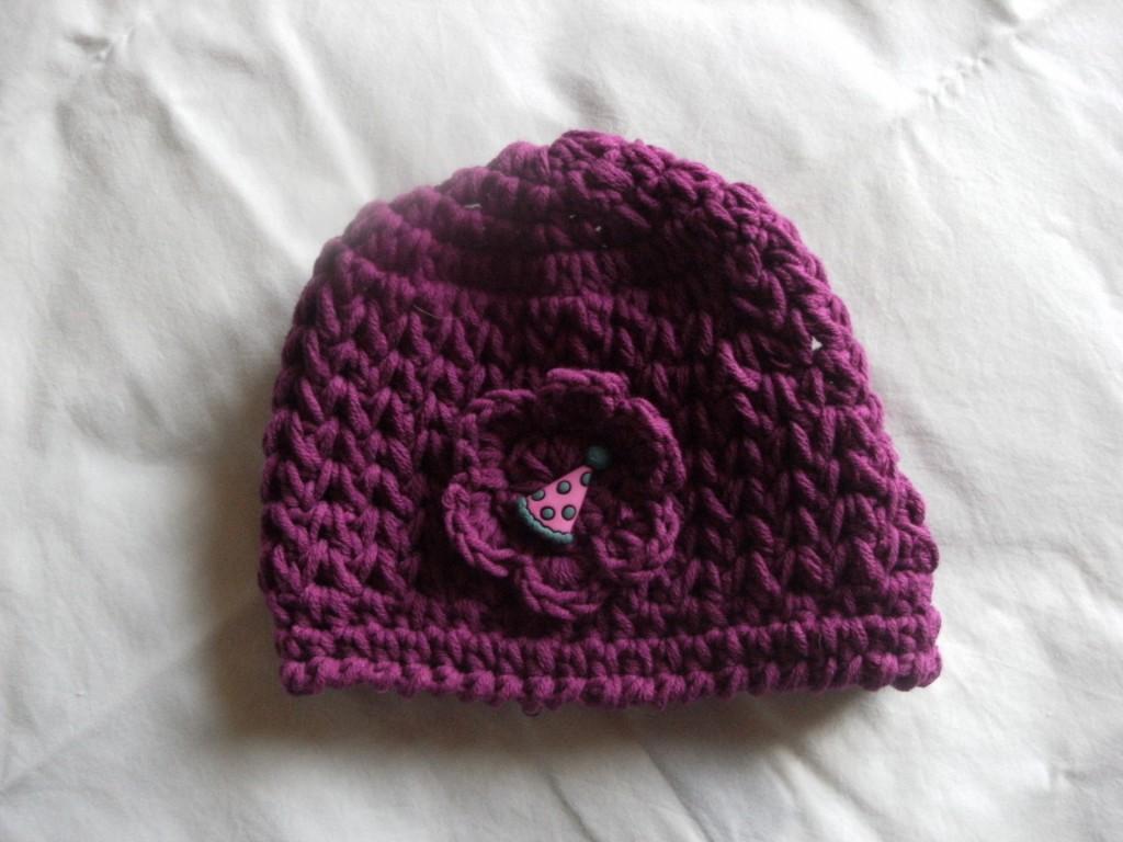 photo tricot modele tricot bonnet bebe fille 14
