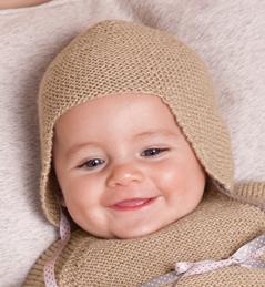 photo tricot modele tricot bonnet bebe fille 18