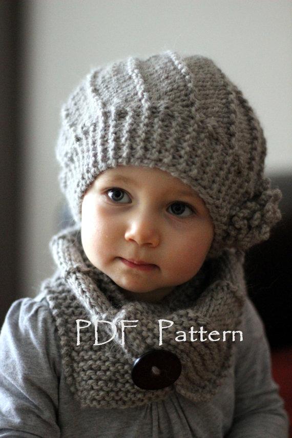 photo tricot modele tricot bonnet bebe fille 3