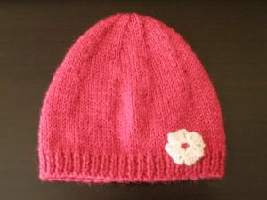 photo tricot modele tricot bonnet bebe naissance 12