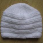photo tricot modele tricot bonnet bebe naissance 17